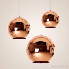 ball pendant light copper silver gold