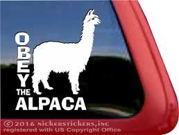 Suri Alpaca Decals Stickers Nickerstickers