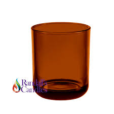 large 30cl external amber candle glass