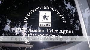 In Loving Memory Of Howling Wolf Memorial Car Stickers Vinyl Window Decals