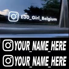 Instagram Your Name Custom Personalised Window Vinyl Decal Car Van Bike Sticker Archives Midweek Com