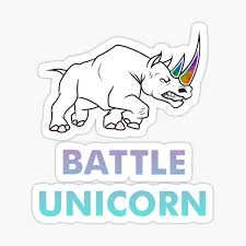 Battle Rhino Unicorn Stickers Redbubble