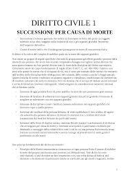 DIRITTO DELLE SUCCESSIONI - Docsity