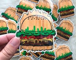 Cheeseburger Sticker Etsy