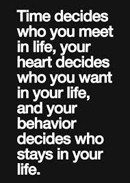 friendship quotes time decides who you meet in life