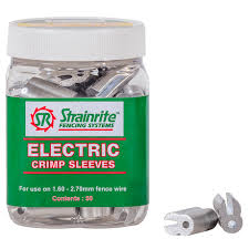 Strainrite Electric Wire Crimps 50 Pack Agridirect Ie