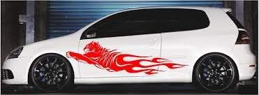 Tiger Flames Vinyl Cut Vehicle Decals Xtreme Digital Graphix