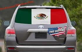 Mexican Flag Car Window Wrap Decal Mexico Car Graphics Decal Etsy