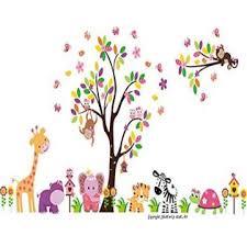 Nursery Wall Decals Kids Room Wall Decor Cute Animal Decals Baby Swag Baby Stuff Wall Decal Tree Nursery
