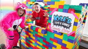 giant lego candy drive thru candy