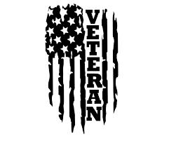 Amazon Com Custom Vinyl Distressed American Flag Veteran Decal Soldier Bumper Sticker For Tumblers Laptops Car Windows Patriotic Military Gift Handmade