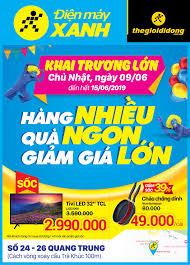 Khai trương Siêu thị Điện máy XANH Quang Trung, Quảng ngãi