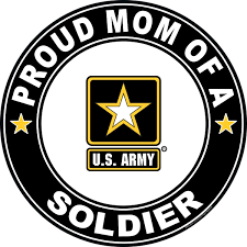 Amazon Com Militarybest Proud Mom Of A Soldier U S Army Round Decal Automotive
