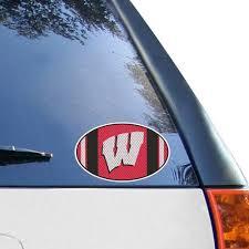 Wisconsin Badgers 6 X 6 Jersey Die Cut Repositionable Vinyl Decal
