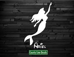 County Line Decals Ariel Disney Princess Vinyl Window Decal Sticker 6 Car Truck Free Shipping
