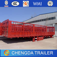 60ton China 3 Axles Fence Cargo Livestock Trailer Chinatrucksuppliers Com