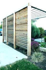 ideas outdoor metal screens plants deck