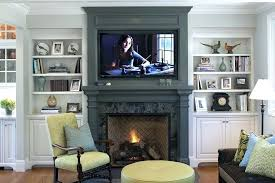 living room built ins with fireplace