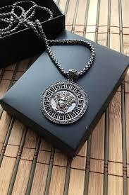 designer necklace silver color