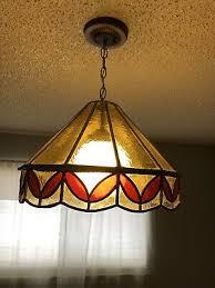 leaded tiffany style chandelier light
