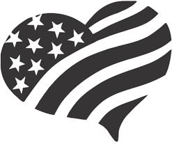 America Heart Usa Flag Love America Tool Box Bumper Sticker Vinyl Decal