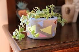diy cement pots recipe tutorial tlc