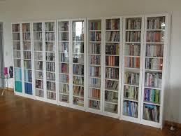 billy oxberg bookcase glass door