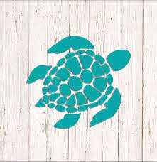 Sea Turtle Decal Sea Turtle Sticker Car Decal Wall Decal Etsy In 2020 Sea Turtle Decal Turtle Car Tumbler Decals Vinyls