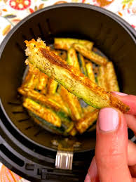 air fryer keto zucchini fries with no