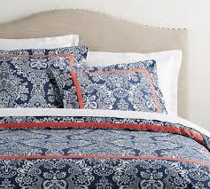 blue elaine damask patterned duvet