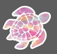Pink Watercolor Sea Turtle Decal Sea Turtle Decal Sticker Hydroflask Laptop Ebay