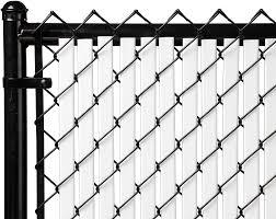 Amazon Com 6ft White Tube Slats For Chain Link Fence Garden Outdoor