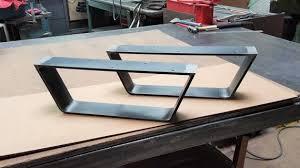 coffee table metal legs industrial