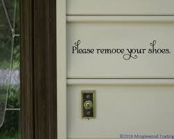 Please Remove Your Shoes Vinyl Decal Sticker Home House Door Sign Swash