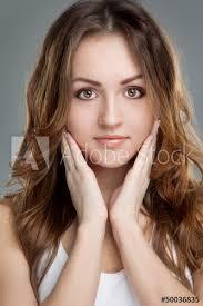 Portrait Of Brunette Young Girl Studio Shot Sticker Wall Decals Anastasia Bobrova