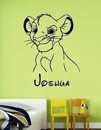 Disney Wall Decal Lion King Simba Custom Name Sticker Vinyl Personalized Decor 1 Ebay