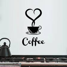 Ilh New Arrival Beautiful Design Coffee Mugs Tea Coffee Art Decal Vinyl Wall Sticker Walmart Com Walmart Com