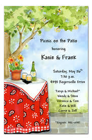 patio party party invitations by