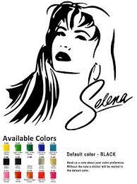 Selena Decal Choose Color