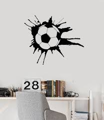 Wall Decal Soccer Sport Ball Sports Fans Boys Room Art Vinyl Stickers Unique Gift Ig2858 Boy Room Art Vinyl Wall Decals Wall Decals