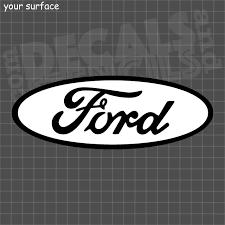 2 Color Ford Oval Vinyl Decal Or Paint Stencil