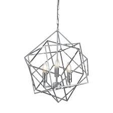 geometric frame 3 light ceiling pendant