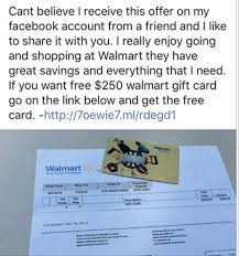 250 walmart gift card is a scam