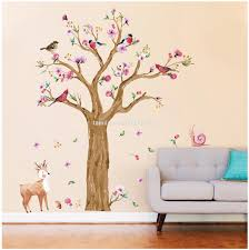 Cherry Blossom Tree Wall Decals Baby Room Nursery Large Tree With Flowers Wall Sticker For Kids Room Vinyl Wall Tattoo Buy Fake Cherry Blossom Trees Large Plastic Trees Nurseries Plants Trees Product On
