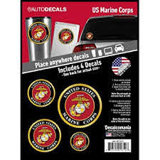 Amazon Com Officially Licensed U S Marine Corps Decals 4 Piece Us Military Stickers For Truck Or Car Windows Phones Tablets Laptops Large Military Decals 1 75 To 4 Inches Car Decals
