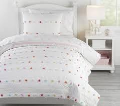 bright pom pom kids comforter set