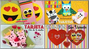4 Tarjetas Originales Para Cumpleanos San Valentin Dia De La Amistad Y Dia De La Madre Youtube