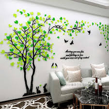 New Arrival Couple Tree 3d Three Dimensional Acrylic Wall Stickers Living Room Bedroom Tv Sofa Mural Wall Art Sticker Love Tree Wall Stickers Aliexpress