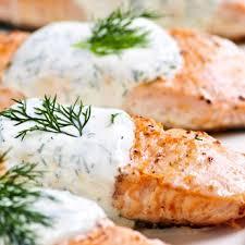 salmon with horseradish dill sauce