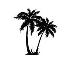 Palm Tree Decal Palm Tree Sticker Sea Life Decal Beach Etsy